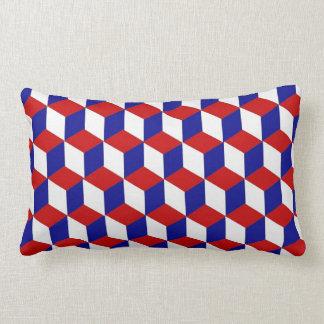 Coussin (lombaire) - bloquez l'illusion rouge, coussins carrés