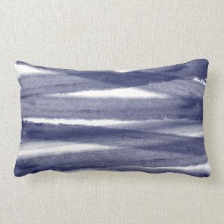 Coussin lombaire d'aquarelle de bleu marine