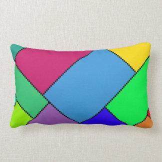 Coussin lombaire de bloc de couleur