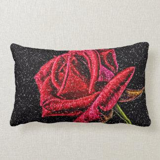 Coussin lombaire de rose rouge