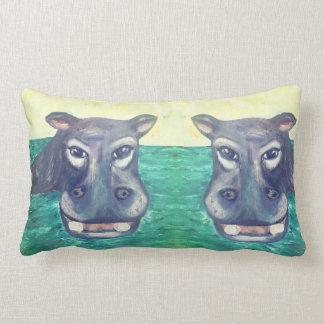 Coussin lombaire d'hippopotame