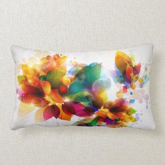 Coussin lombaire floral coloré
