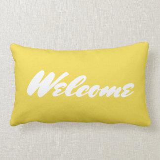 Coussin lombaire jaune bienvenu