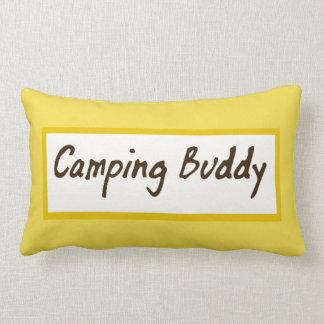 Coussin lombaire jaune d'ami de camping