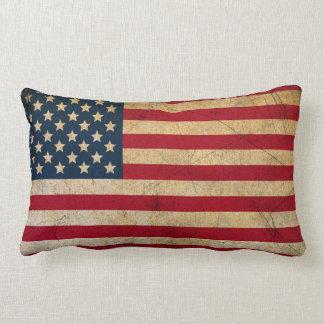Coussin lombaire vintage de drapeau américain
