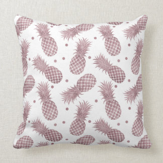 Coussin L'or rose pointille des ananas
