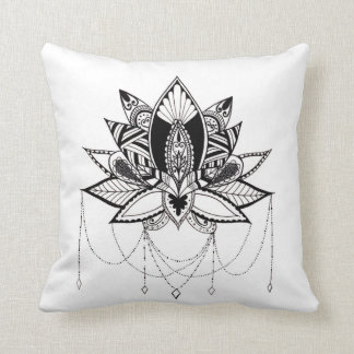Coussin Lotus ornemental