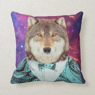 Coussin Loup élégant de galaxie