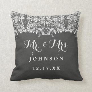 Coussin M. et Mme Wedding Pillow de dentelle de tableau