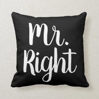 Coussin M. noir et blanc Right Husband/ami
