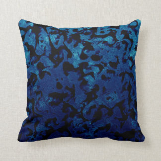Coussin Magie abstraite - noir de grunge de bleu marine