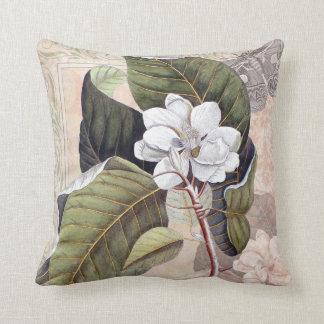 Coussin Magnolia du sud élégante vintage chic