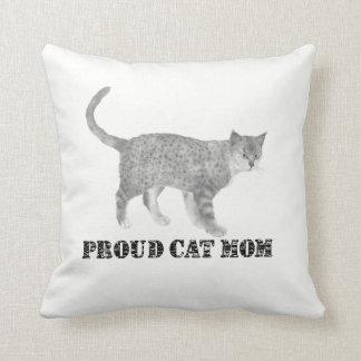 Coussin Maman fière de chat