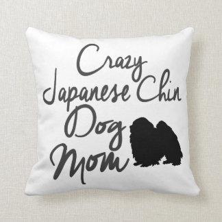 Coussin Maman folle de chien de Chin de Japonais