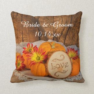 Coussin Mariage de automne rustique de citrouilles