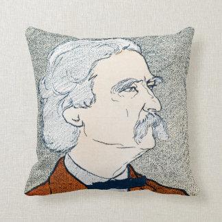 Coussin Mark Twain et citation - l'explorez. Rêve.