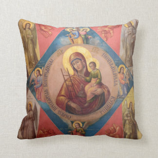 Coussin Mary, Jésus, et anges