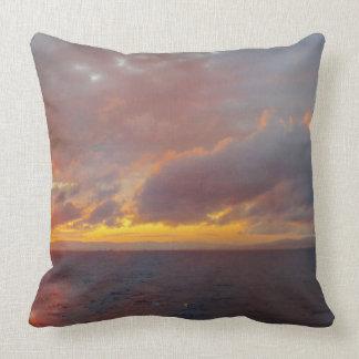 Coussin méditerranéen de coucher du soleil