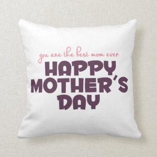 Coussin Meilleur carreau simple du jour de mère de maman