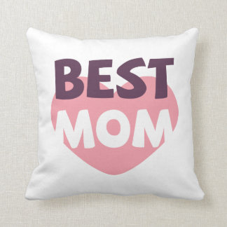 Coussin Meilleur carreau simple du jour de mère de maman |