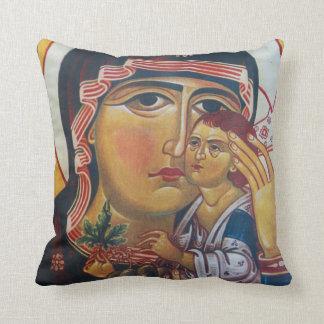 Coussin Mère Mary et art de Jésus