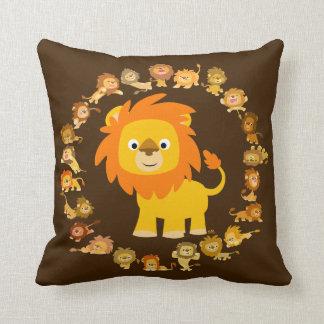 Coussin mignon de mandala de lion de bande