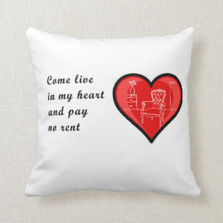 Coussin mignon de message de Valentine !