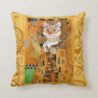 Coussin mignon d'or de Klimt de bande dessinée de