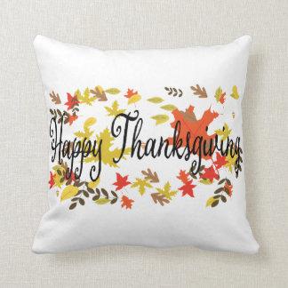 Coussin Milieux de thanksgiving. Feuillage de feuille