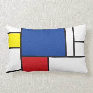 Coussin minimaliste de coussin d'art de Mondrian d