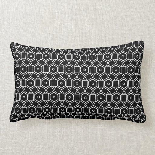 coussin moderne noir et blanc zazzle. Black Bedroom Furniture Sets. Home Design Ideas