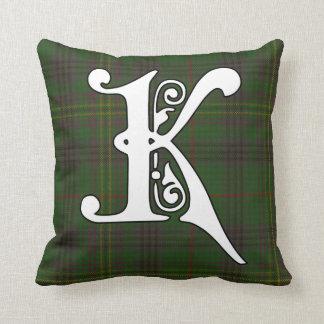 Coussin Monogramme de tartan de clan de Kennedy