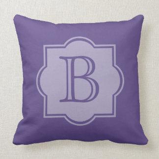 Coussin Monogramme simple ultra-violet à la mode de