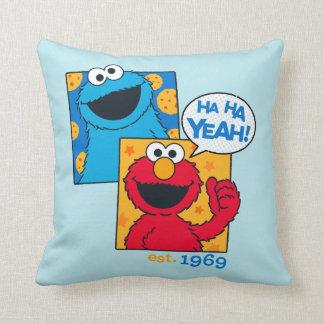 Coussin Monstre et Elmo de biscuit | ha ha ouais