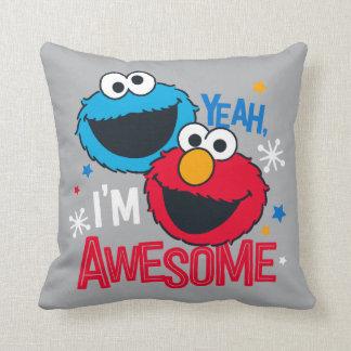 Coussin Monstre et Elmo de biscuit | ouais, je suis