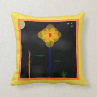 """Coussin """"Moonflower, Moonflower"""" 16' x 16"""" carreau"""