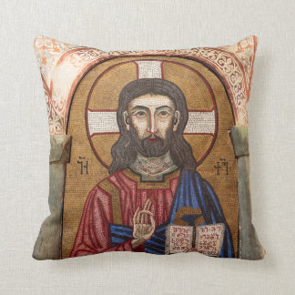 Coussin Mosaïque antique de Jésus
