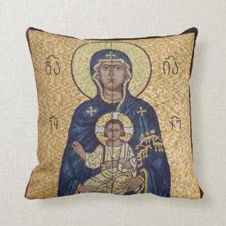 Coussin Mosaïque de Mary et de Jésus