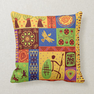 Coussin Motif africain