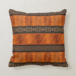 Coussin Motif africain ethnique avec des simbols d'Adinkra