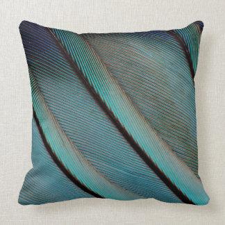 Coussin Motif bleu de plume