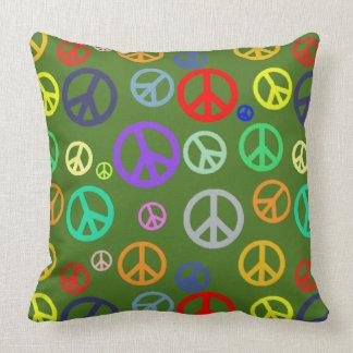 Coussin Motif coloré multi riche vibrant de symbole de