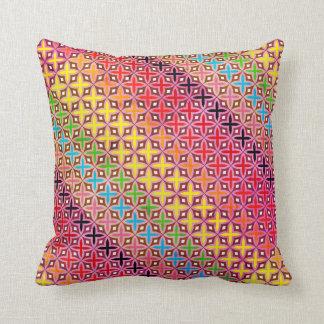 Coussin Motif croix Abstrait Multicolore