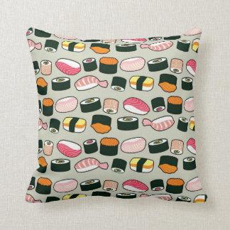 Coussin Motif d'illustrations d'amusement de sushi