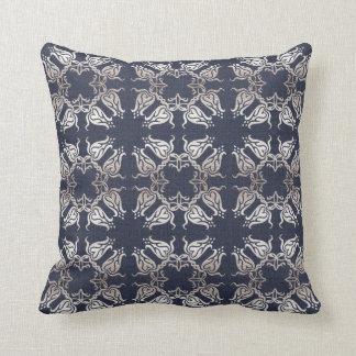 Coussin motif floral de marine de damassé