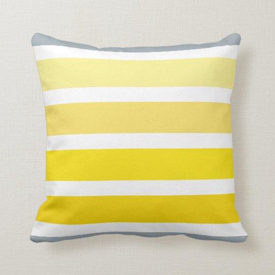 coussin motif jaune citron de rayures de blanc gris. Black Bedroom Furniture Sets. Home Design Ideas