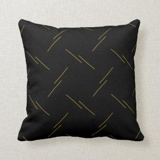Coussin Motif rayé minimaliste jaune