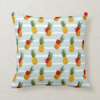 Coussin Motif sans couture d'ananas hawaïen d'été
