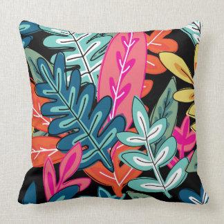 Coussin Multicolore sur l'abrégé sur #2 floral noir