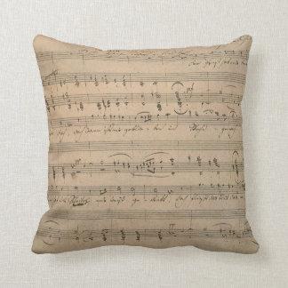 Coussin Musique de feuille antique, chanson du vieil